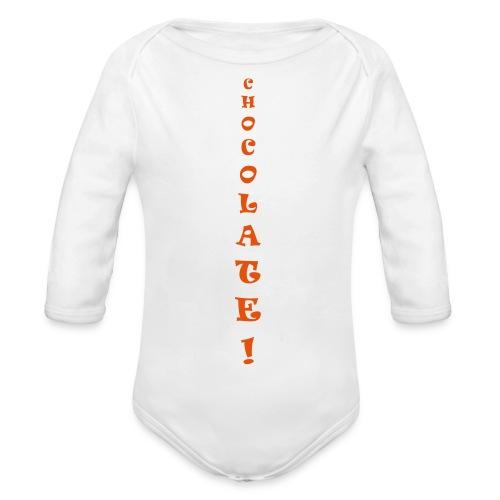 Chocolate - Body ecologico per neonato a manica lunga