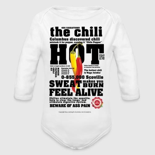 chili - Langærmet babybody, økologisk bomuld