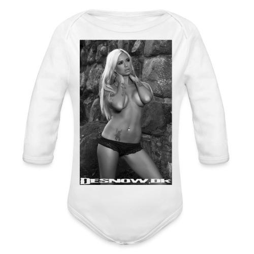 Ashley - Langærmet babybody, økologisk bomuld