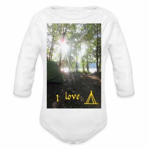 camping - Baby bio-rompertje met lange mouwen