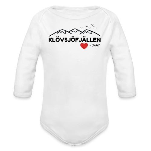 Klövsjöfjällen - Ekologisk långärmad babybody