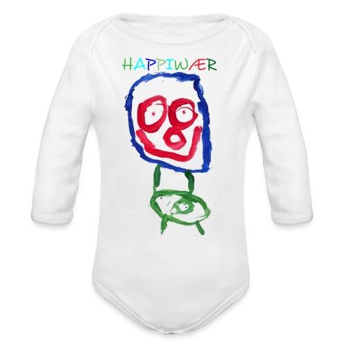 happiwær2 - Langærmet babybody, økologisk bomuld