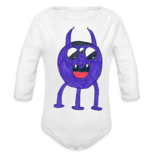 Monster - Ekologisk långärmad babybody