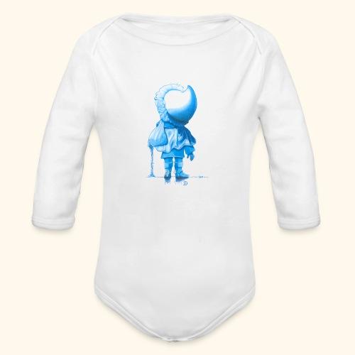 Unser Sandmännchen von hinten blau - Baby Bio-Langarm-Body