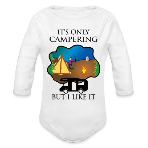 To tylko campering, ale to lubię - Ekologiczne body niemowlęce z długim rękawem
