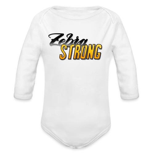 Zebra Strong - Baby Bio-Langarm-Body