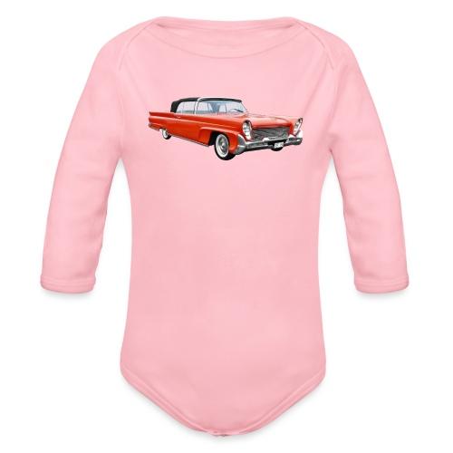 Red Classic Car - Baby bio-rompertje met lange mouwen