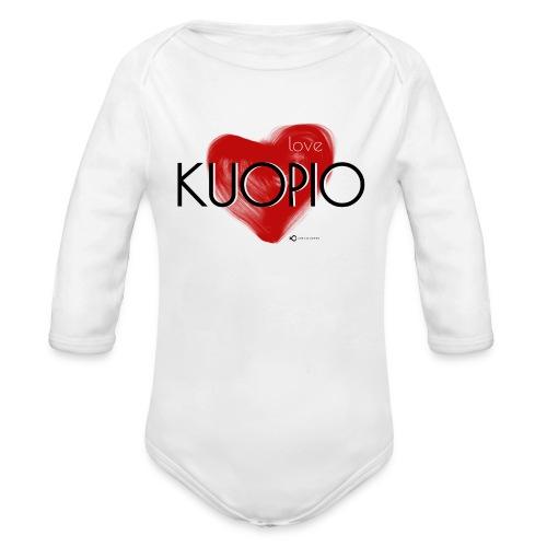 Love Kuopio teksti keskellä - Vauvan pitkähihainen luomu-body