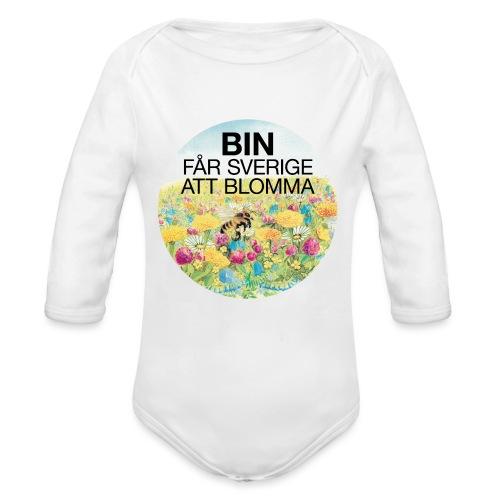 Bin får Sverige att blomma - Ekologisk långärmad babybody