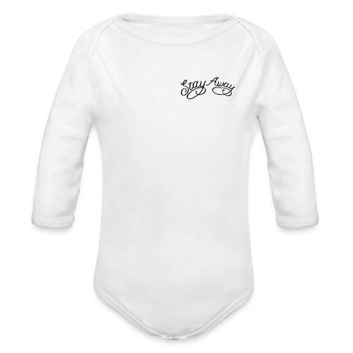 STAY AWAY - Langærmet babybody, økologisk bomuld