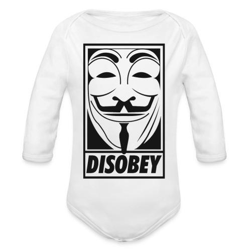Anonymous disobey - Body Bébé bio manches longues