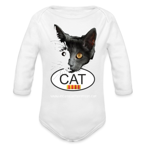 gat catala - Body orgánico de manga larga para bebé
