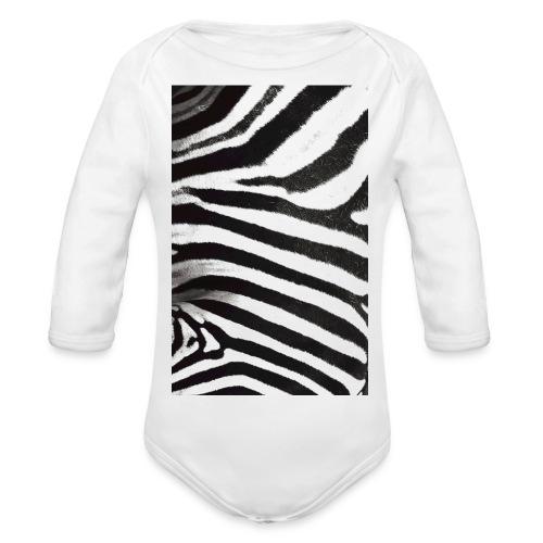 Zebra phone case - Organic Longsleeve Baby Bodysuit
