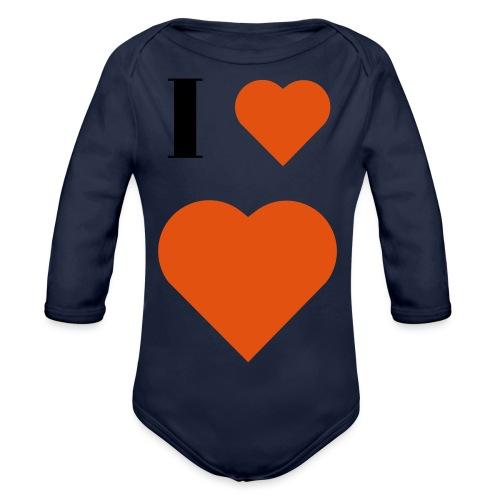 I Heart heart - Organic Longsleeve Baby Bodysuit