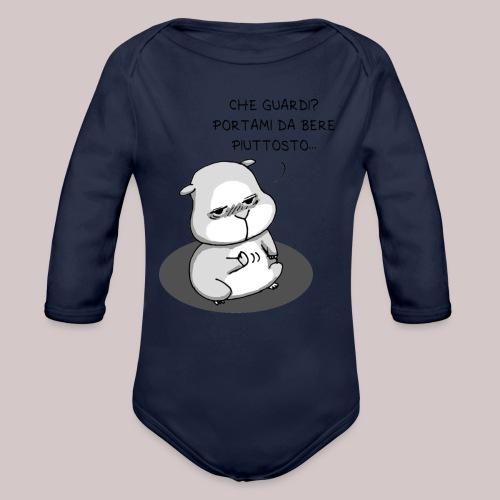 drunk_Hamster - Body ecologico per neonato a manica lunga