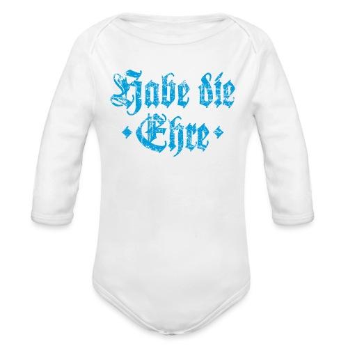 Habe die Ehre (Vintage/Hellblau) - Baby Bio-Langarm-Body