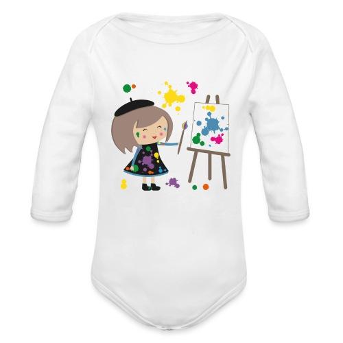 Happy Meitli - Künstlerin - Baby Bio-Langarm-Body
