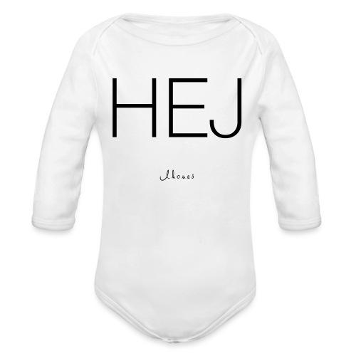 Hello - Organic Longsleeve Baby Bodysuit