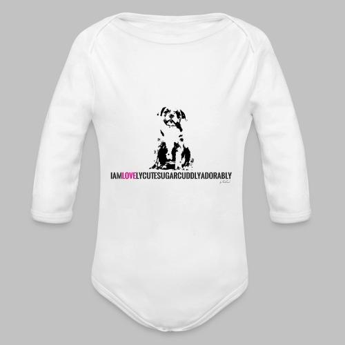 FRANZÖSISCHE BULLDOGE - WELPEN - LOVE - Baby Bio-Langarm-Body