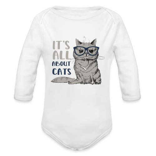 Coole Katze: It's All About Cats - Baby Bio-Langarm-Body