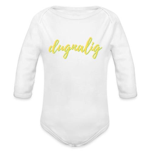 dugnalig - Langærmet babybody, økologisk bomuld