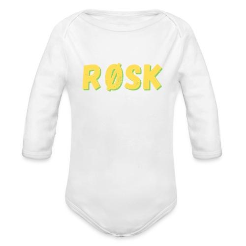 røsk - Langærmet babybody, økologisk bomuld