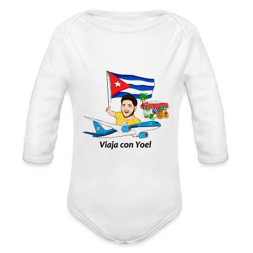 Cuba - Viaja con Yoel - Body orgánico de manga larga para bebé