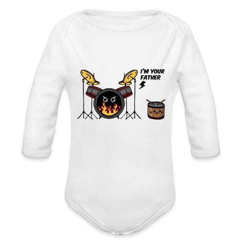 i'm your father drum - Body ecologico per neonato a manica lunga