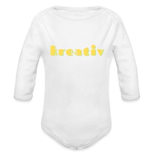 kreativ - Langærmet babybody, økologisk bomuld