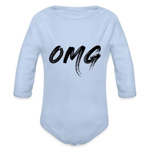 OMG, musta - Vauvan pitkähihainen luomu-body