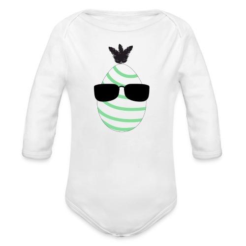 EasterDude, grön - Ekologisk långärmad babybody