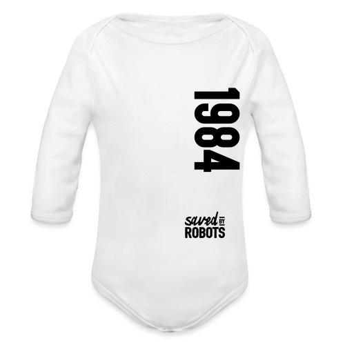 1984 / Saved By Robots Premium Tote Bag - Organic Longsleeve Baby Bodysuit