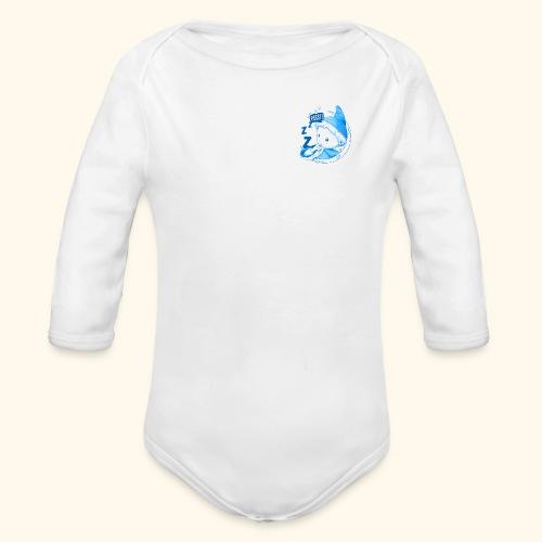 Unser Sandmännchen im Mond Pssst blau - Baby Bio-Langarm-Body