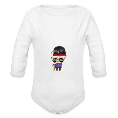 Angry Granny T-shirt - Baby Bio-Langarm-Body
