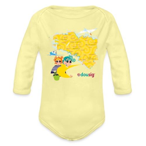 Carte de la Bretagne Dousig - Body Bébé bio manches longues