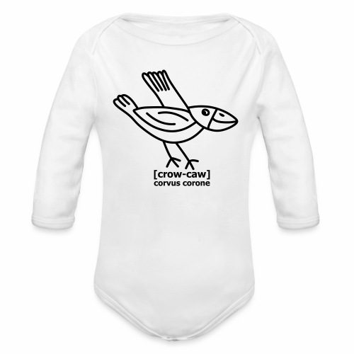 Kråka is pronounced Crow caw - Organic Longsleeve Baby Bodysuit