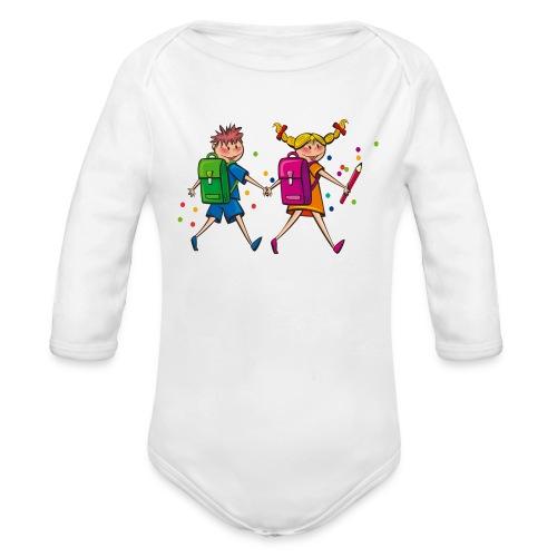 boy and girl - Baby Bio-Langarm-Body