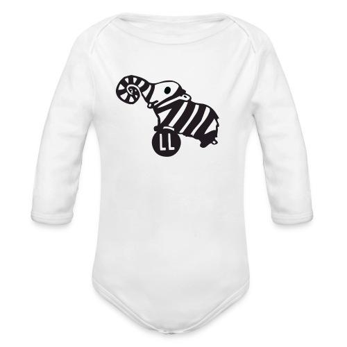 Strampler Lauscherfant - Baby Bio-Langarm-Body