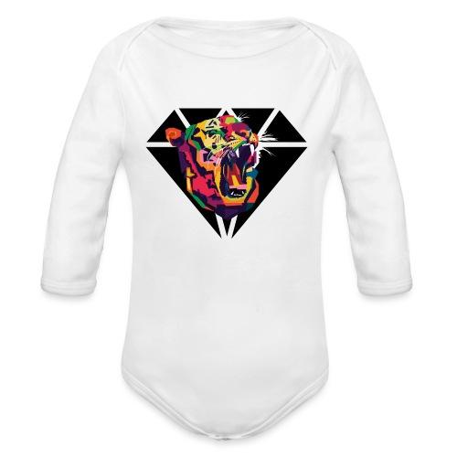 Tiger Hipster Design - Baby Bio-Langarm-Body