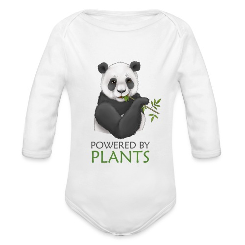Panda 2 Plantbased - Ekologisk långärmad babybody