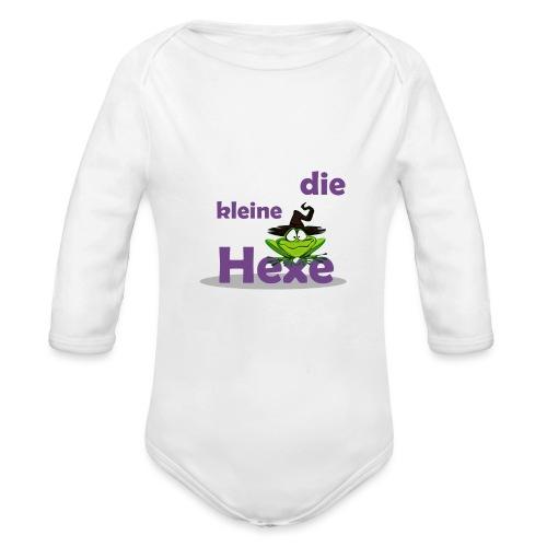 Baby Bio-Langarm-Body Kleine Hexe Wunschname - Baby Bio-Langarm-Body
