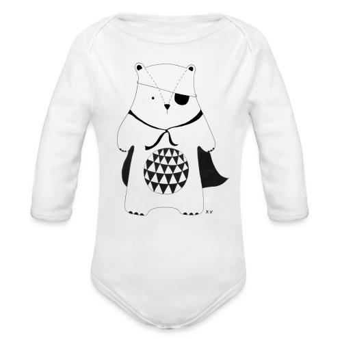 stoere beer - Baby bio-rompertje met lange mouwen