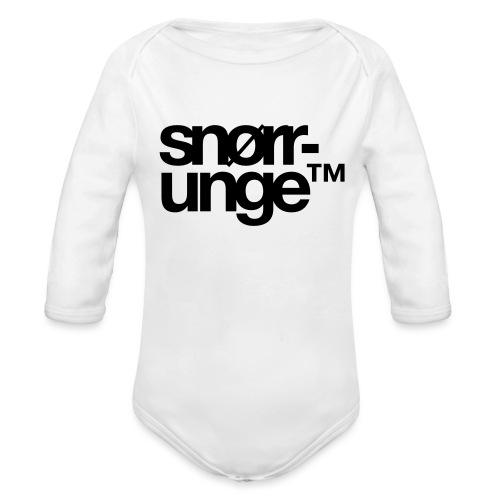 Snørrunge™ - Økologisk langermet baby-body