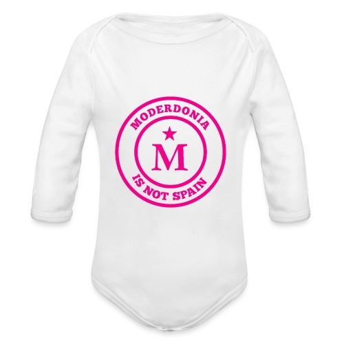 Moderdonia is not Spain rosa - Body orgánico de manga larga para bebé