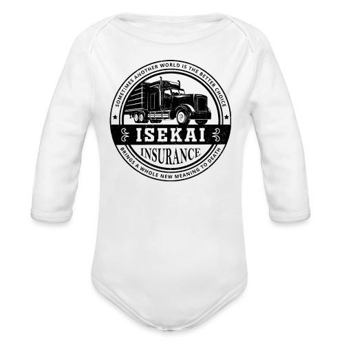Funny Anime Shirt Isekai insurance Co. - Black - Baby bio-rompertje met lange mouwen