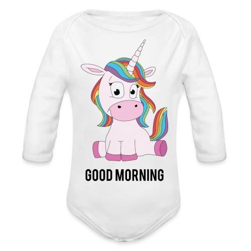 Good morning Unicorn - Baby bio-rompertje met lange mouwen