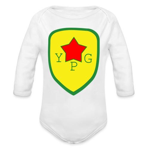 Unisex Red YPG Support Hoodie - Vauvan pitkähihainen luomu-body