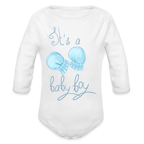 Baby boy - Body Bébé bio manches longues