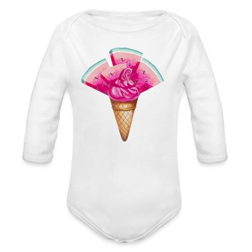 Eis Melone - Baby Bio-Langarm-Body