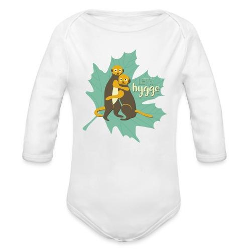 Erdmännchen Herbstfreunde Umarmung - Let's hygge - Baby Bio-Langarm-Body